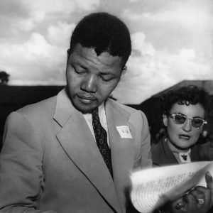 Nelson Mandela and Ruth First, Defiance Campaign, 1952.jpg