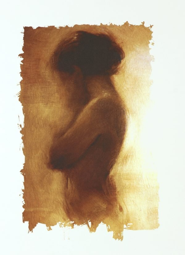 Girl On Gold Charlie Mackesy Painting