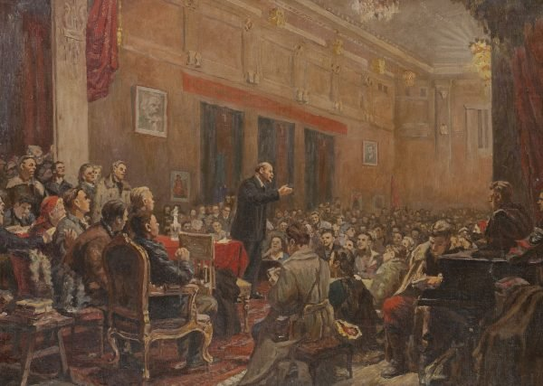 Lenin at the Winter Palace II 56 x 80 cm.jpg