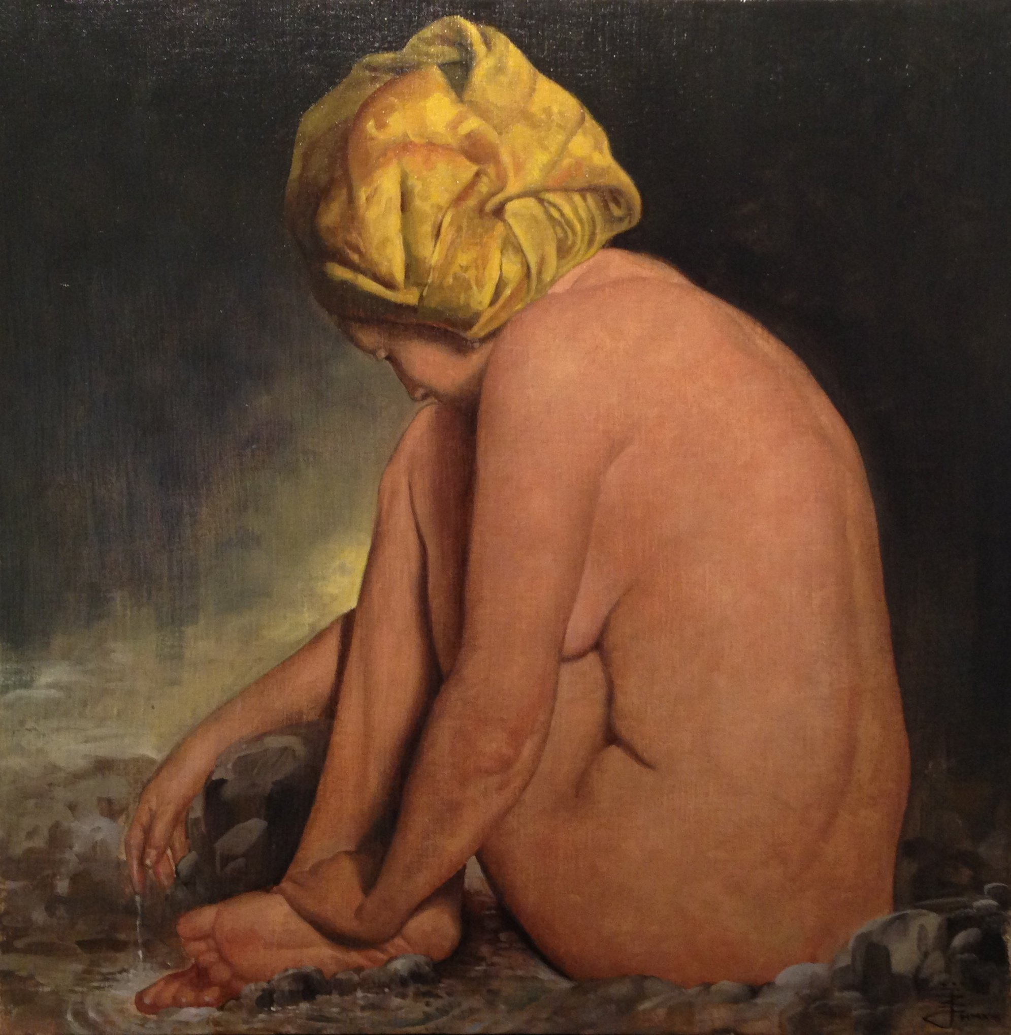Luca Battini - Nude with YellowTruban.jpg