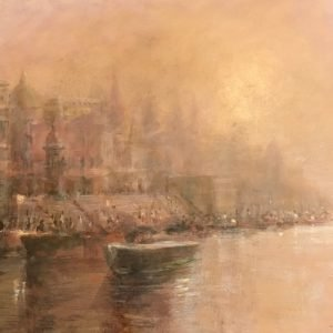 Dawn on the Ganges -Varanasi - lincoln seligman