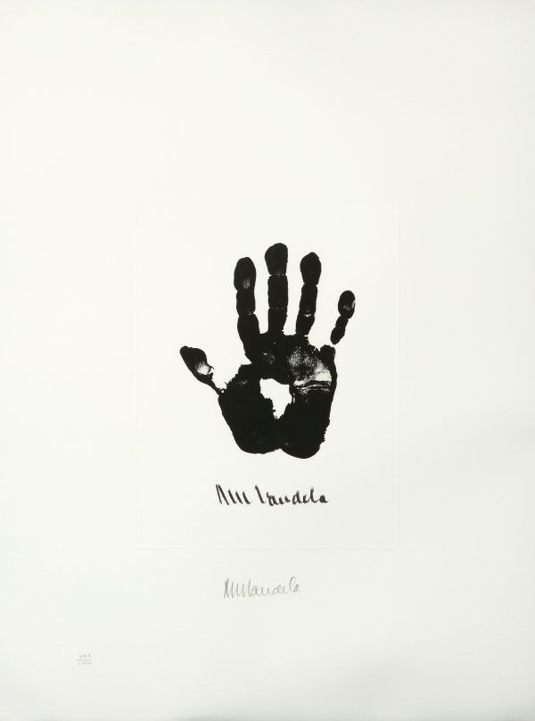 Hand of Africa Nelson Mandela Artwork