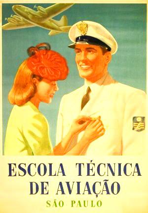 escola tecnica vintage poster