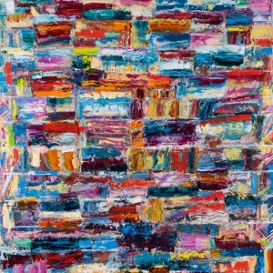 Painting on the Moon - Monroe Hodder. Abstract Art by American Artist
