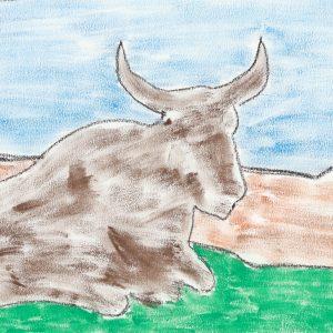 Nelson Mandela - Madiba's Nguni Bull I